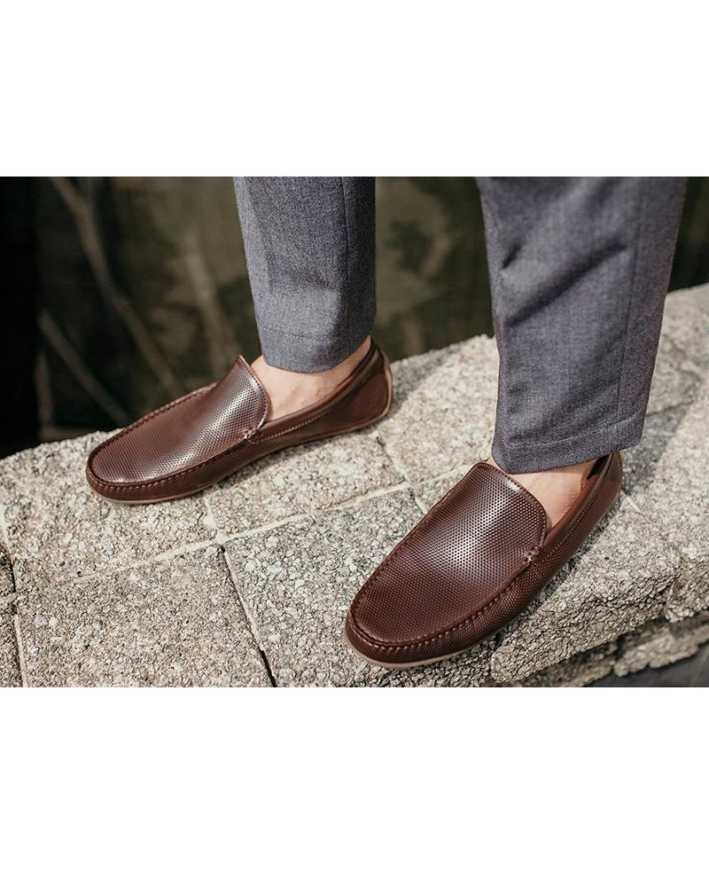 Tomaz C294 Perforated Slip On Moccasins (Coffee) men's shoes casual, men's dress shoes, discount men's shoes, shoe stores, mens shoes casual, men's casual loafers men's loafers sale, men's dress loafers, shoe store near me.