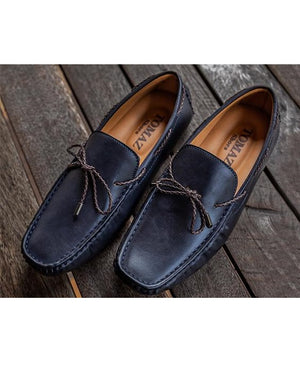 Tomaz C300 Braided Bow Driving Mocs (Navy)