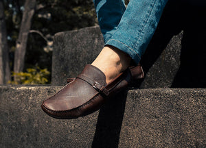 Tomaz C313 Side Buckled Strap (Coffee) - Tomaz Shoes