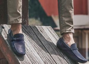Tomaz C313 Side Buckled Strap (Navy) - Tomaz Shoes
