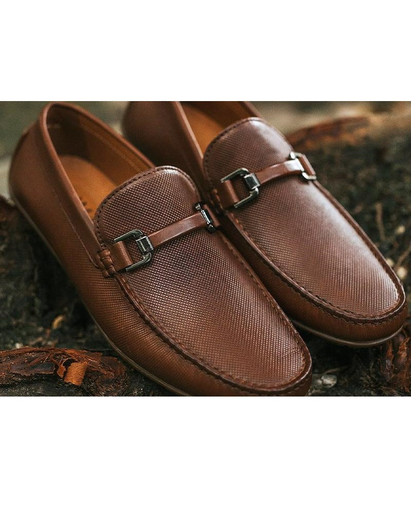 Tomaz C320 Front Buckled Moccasins (Brown) men's shoes casual, men's dress shoes, discount men's shoes, shoe stores, mens shoes casual, men's casual loafers men's loafers sale, men's dress loafers, shoe store near me.