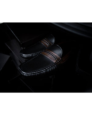 Load image into Gallery viewer, Tomaz C324 Braided Strap Moccasins (Black) men's shoes casual, men's dress shoes, discount men's shoes, shoe stores, mens shoes casual, men's casual loafers men's loafers sale, men's dress loafers, shoe store near me.