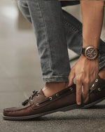 Tomaz C328 Leather Boat Shoes (Coffee) (757156511833)