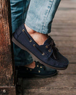 Tomaz C328 Leather Boat Shoes (Navy) (757156773977)