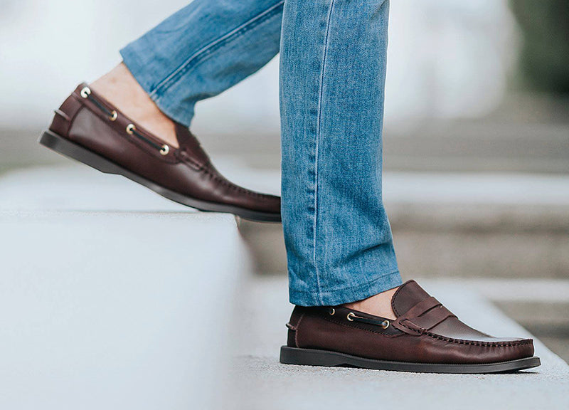 Load image into Gallery viewer, Tomaz C329 Leather Penny Loafers (Wine) - Tomaz Shoes (756423196761)