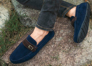 Tomaz C358 Front Buckled Loafers (Navy) - Tomaz Shoes
