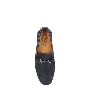 Load image into Gallery viewer, Tomaz C359 Buckled Loafers (Navy)