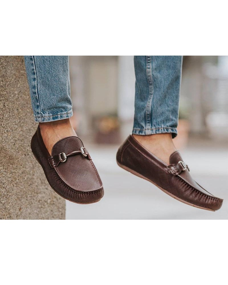 88e18718cf2 Tomaz C359 Buckled Loafers (Coffee) - Tomaz Shoes