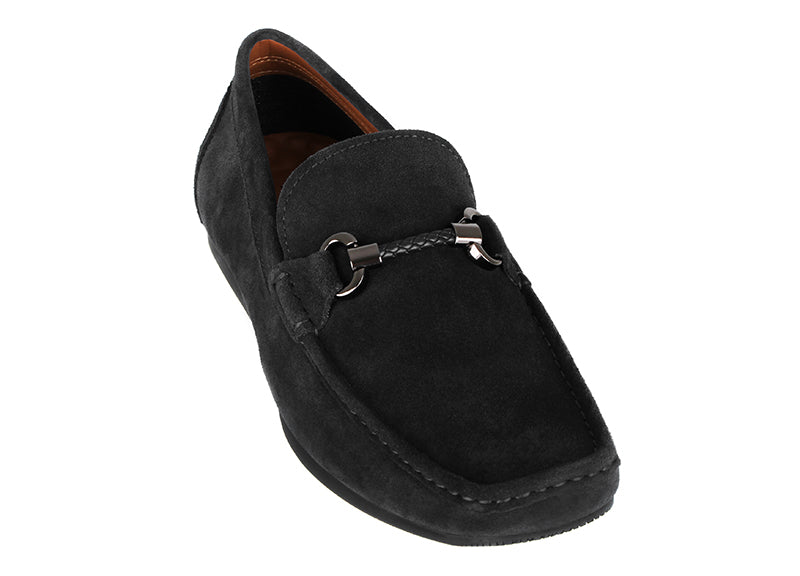 Load image into Gallery viewer, Tomaz C381 Braided Buckle Moccasins (Black) (2209325776992)