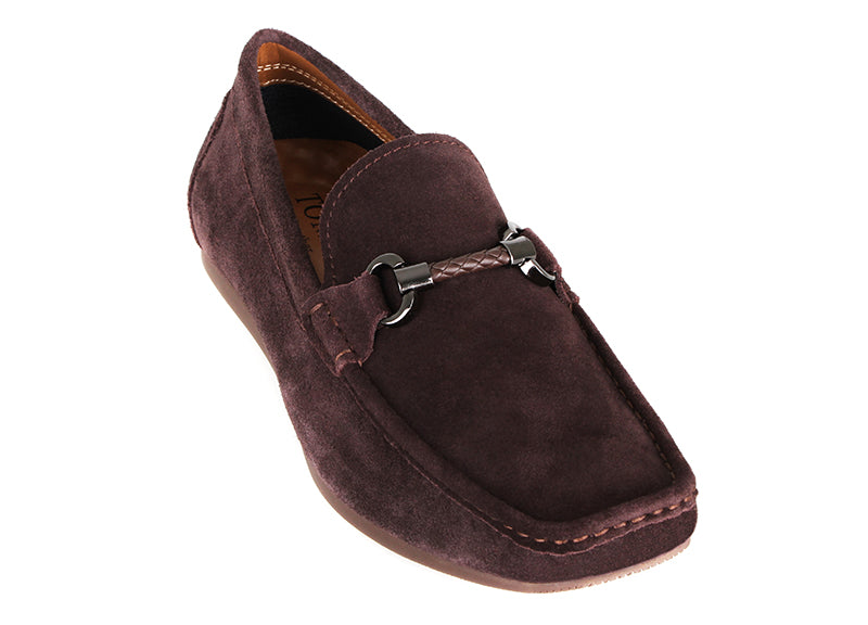 Load image into Gallery viewer, Tomaz C381 Braided Buckle Moccasins (Coffee) (2209327120480)