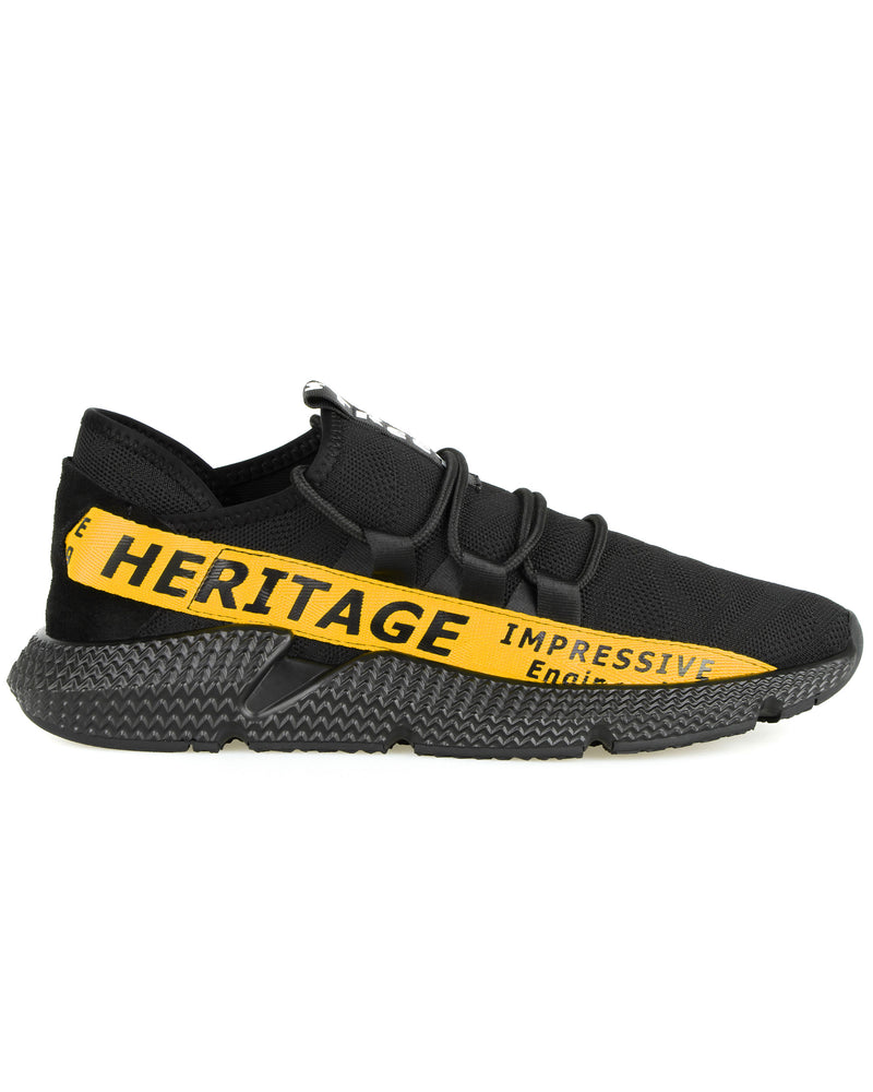 Tomaz C385A Casual Sneakers (Black Yellow)