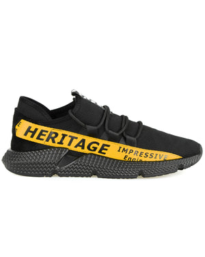 Load image into Gallery viewer, Tomaz C385A Casual Sneakers (Black Yellow)