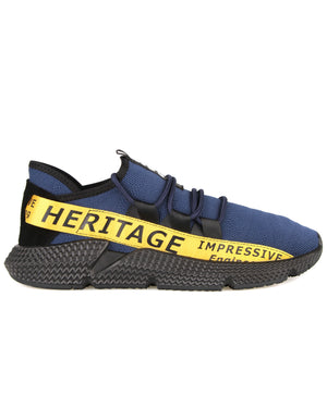 Load image into Gallery viewer, Tomaz C385A Casual Sneakers (Navy Yellow)