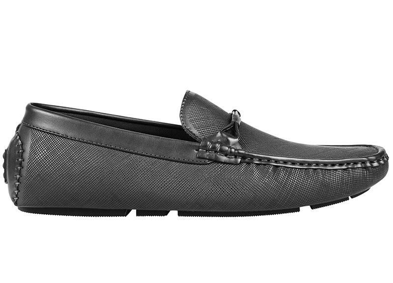 Load image into Gallery viewer, Tomaz C389 Buckle Moccasins (Black) (1899582390368)