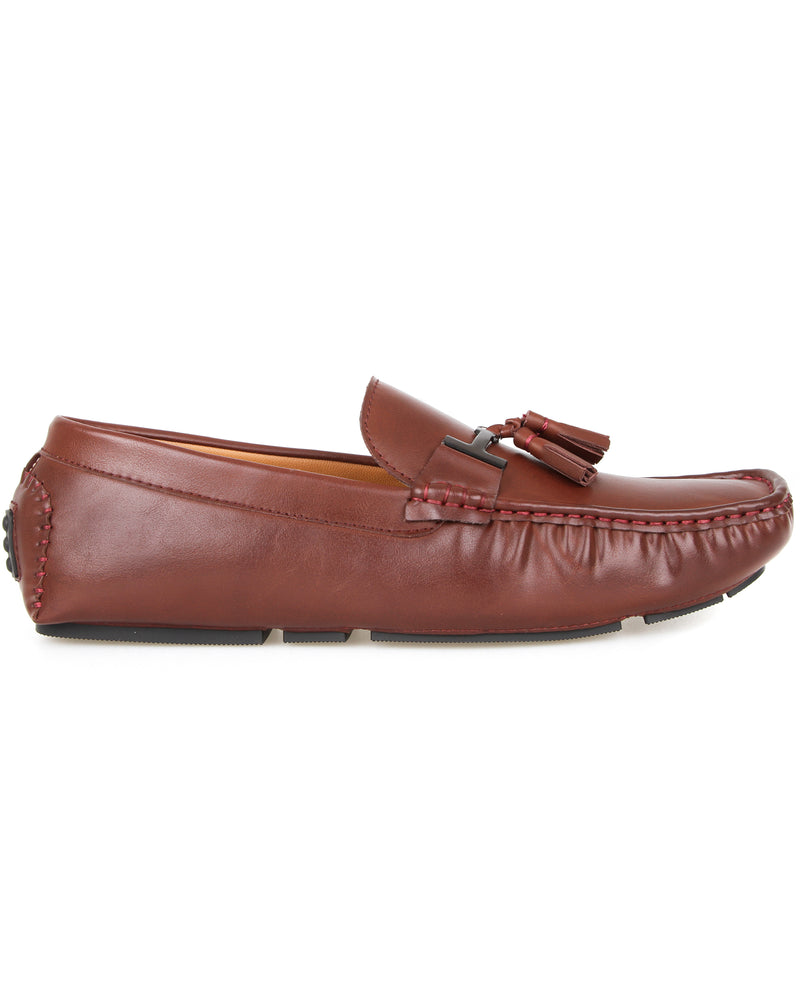 Tomaz C004B Buckled Tassel Moccasins (Wine) men's shoes casual, men's dress shoes, discount men's shoes, shoe stores, mens shoes casual, men's casual loafers men's loafers sale, men's dress loafers, shoe store near me.