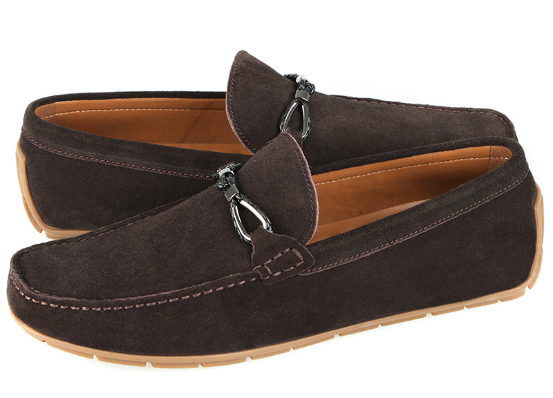 Tomaz C401 Buckle Suede Moccasins (Coffee)