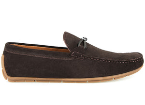 Load image into Gallery viewer, Tomaz C401 Buckle Suede Moccasins (Coffee) (1973410824288)