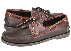 Tomaz C402 Leather Boat Shoe (Coffee) (1905289887840)