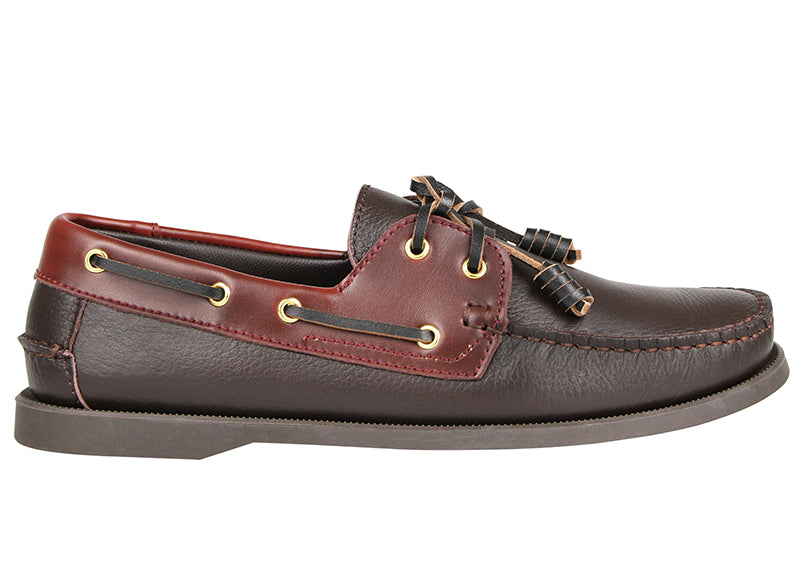 Tomaz C402 Leather Boat Shoe (Coffee)