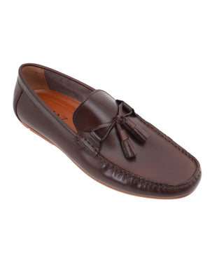 Load image into Gallery viewer, Tomaz C403 Tassel Moccasins (Coffee)
