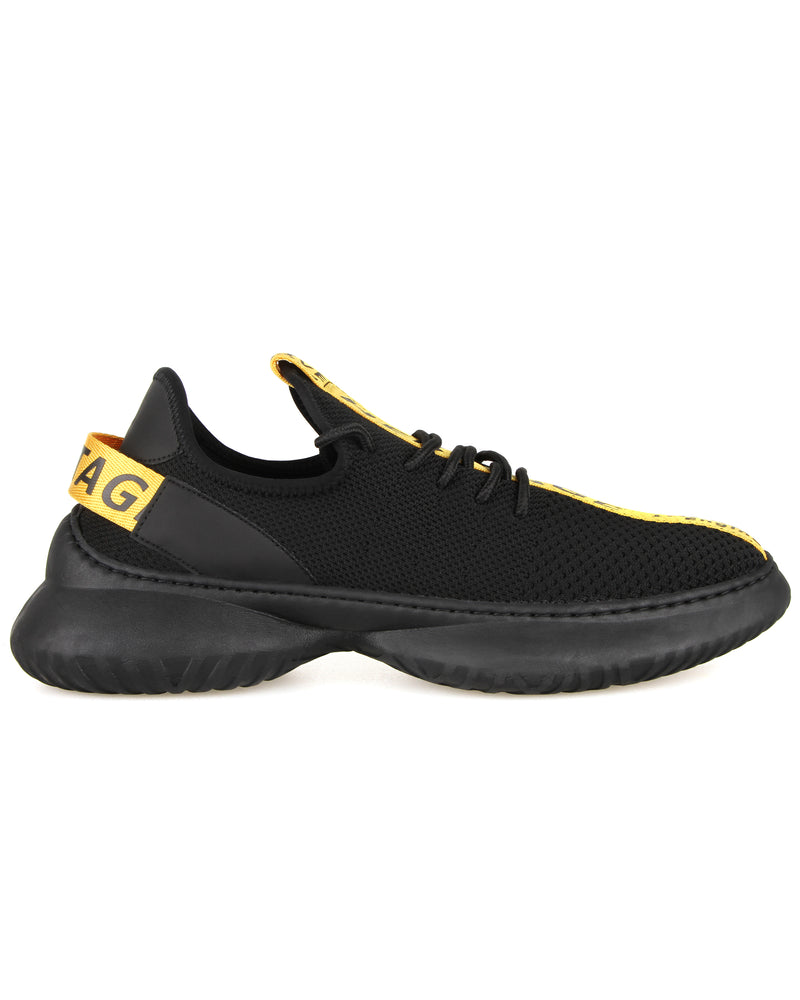 Tomaz C404A Casual Sneakers (Black Yellow)