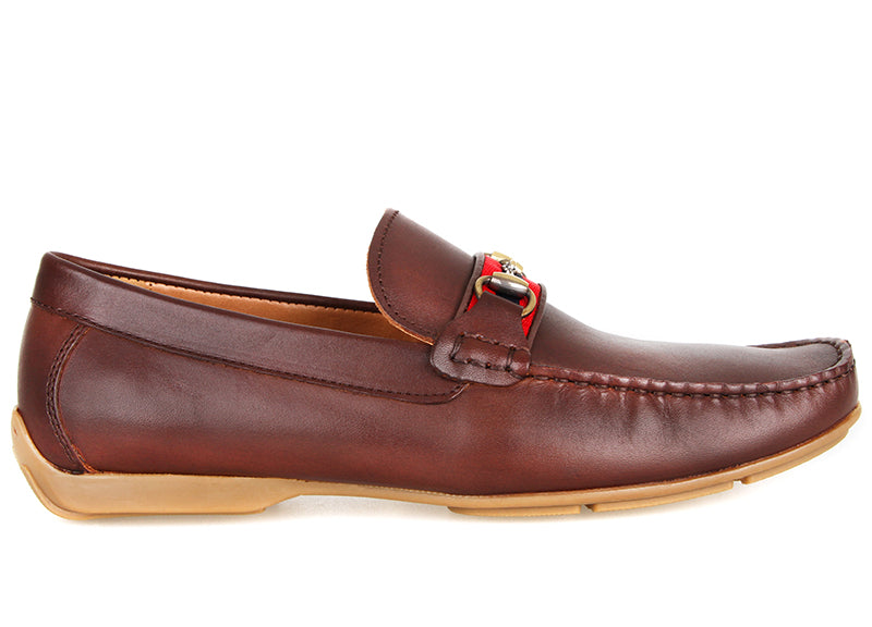 Tomaz C407 Buckled Loafers (Coffee) (4183344611424)