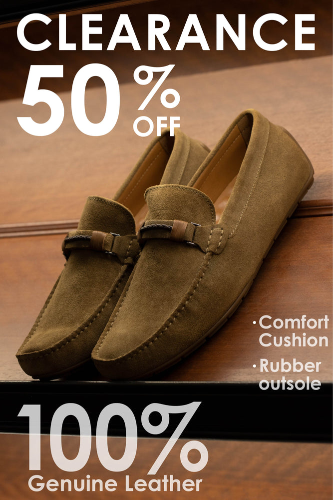 Tomaz C412 Buckle Moccasins (Khaki) - Warehouse Clearance