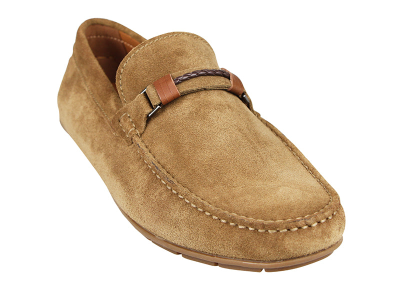 Load image into Gallery viewer, Tomaz C412 Buckle Moccasins (Khaki) (1909776089184) (4596700676192)