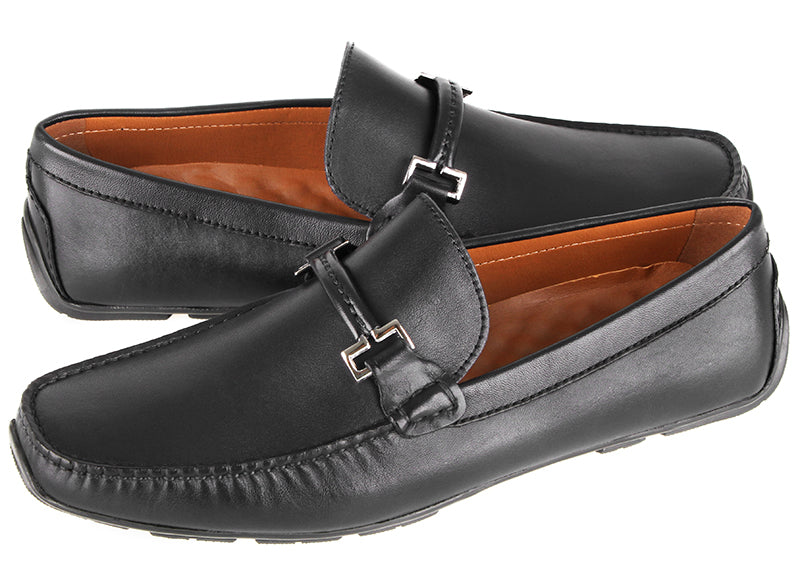 Load image into Gallery viewer, Tomaz C418 Buckle Moccasins (Black) (2204903669856)