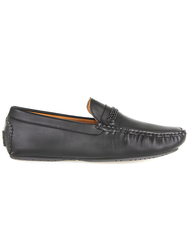 Tomaz C421 Double Braided Moccasins (Black) men's shoes casual, men's dress shoes, discount men's shoes, shoe stores, mens shoes casual, men's casual loafers men's loafers sale, men's dress loafers, shoe store near me.