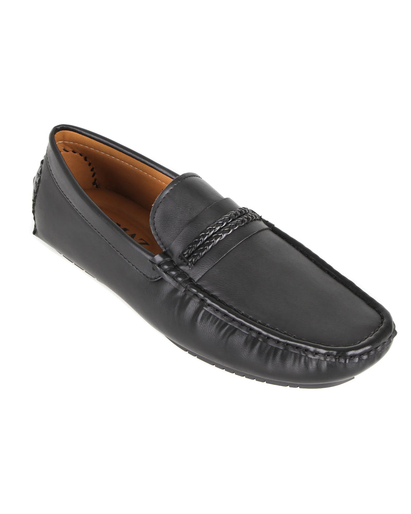 Load image into Gallery viewer, Tomaz C421 Double Braided Moccasins (Black) men's shoes casual, men's dress shoes, discount men's shoes, shoe stores, mens shoes casual, men's casual loafers men's loafers sale, men's dress loafers, shoe store near me.
