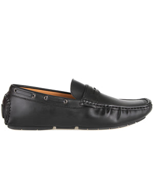 Load image into Gallery viewer, Tomaz C423 Strap Moccasins (Black)
