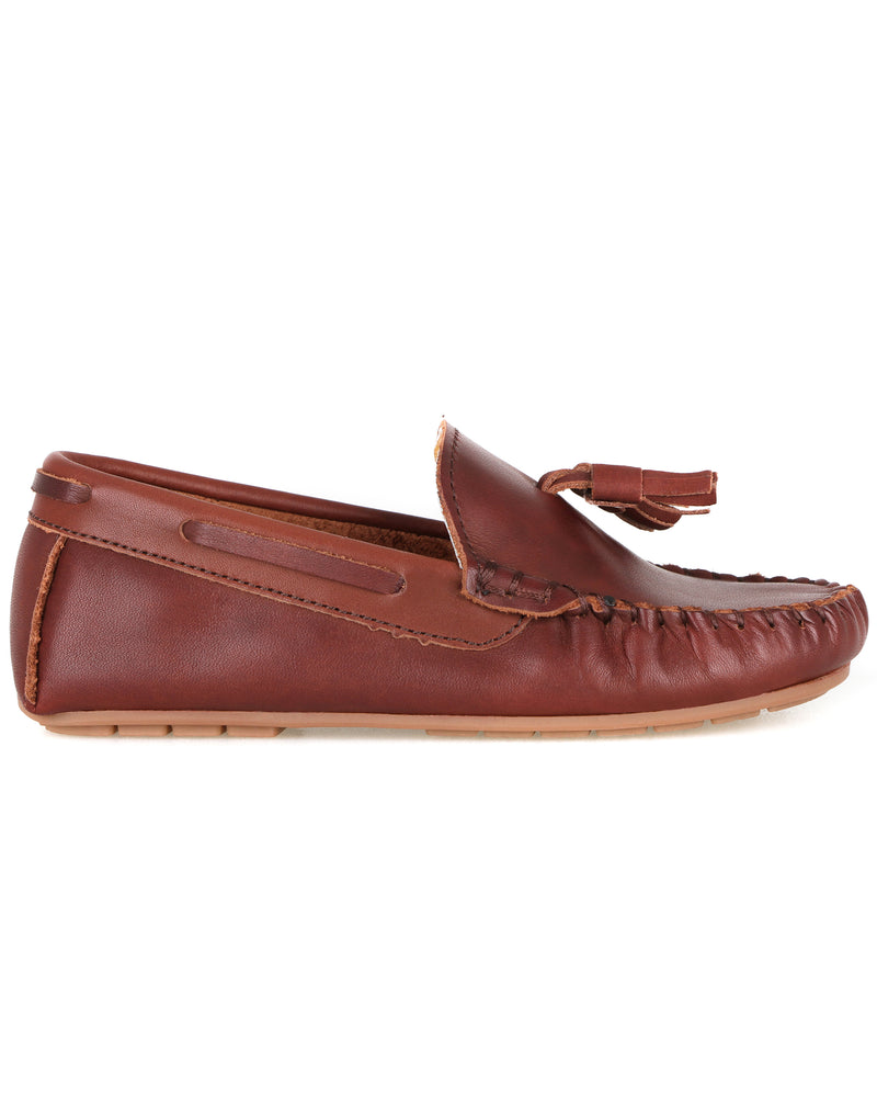 Tomaz C434 Kids Buckle Loafers (Coffee)