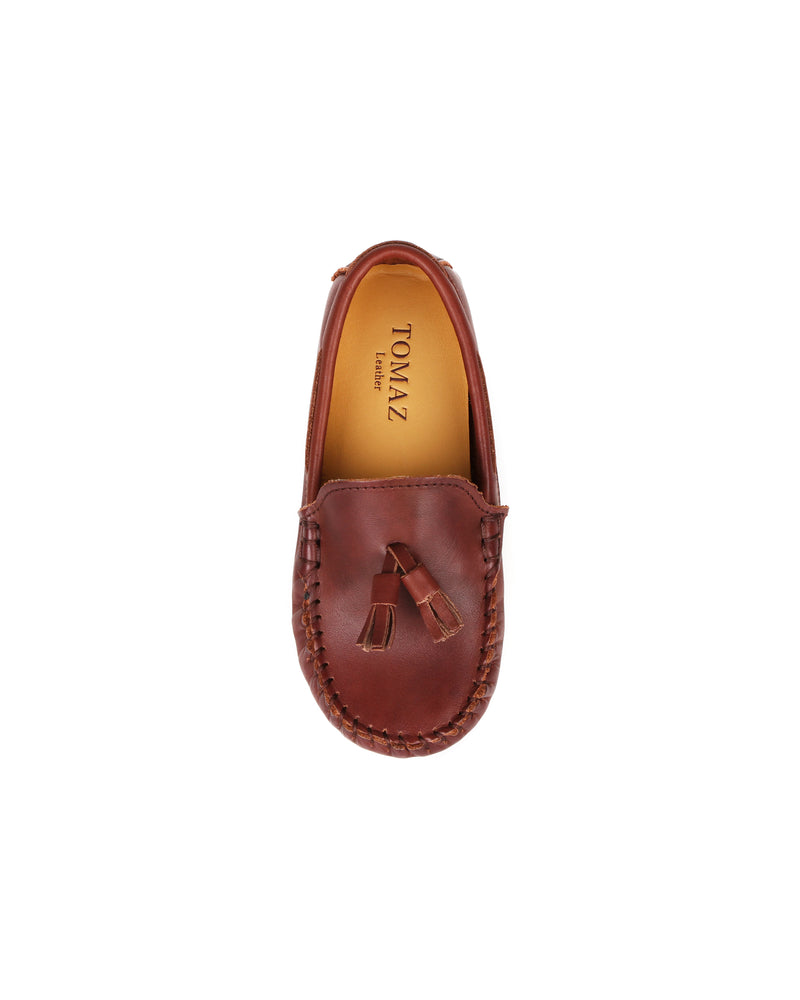 Load image into Gallery viewer, Tomaz C434 Kids Buckle Loafers (Coffee)