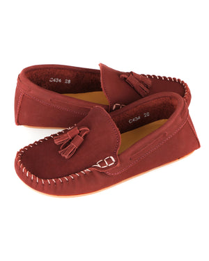 Load image into Gallery viewer, Tomaz C434 Kids Buckle Loafers (Wine)
