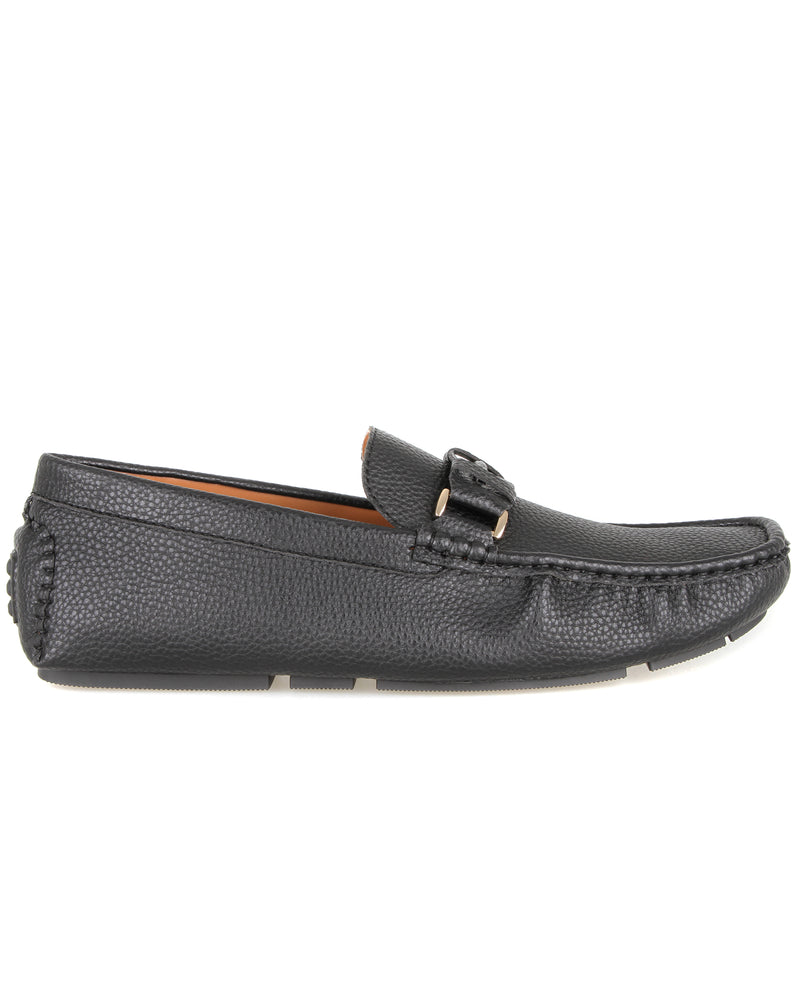 Load image into Gallery viewer, Tomaz C437 Braided Buckle Moccasins (Black) men's shoes casual, men's dress shoes, discount men's shoes, shoe stores, mens shoes casual, men's casual loafers men's loafers sale, men's dress loafers, shoe store near me.