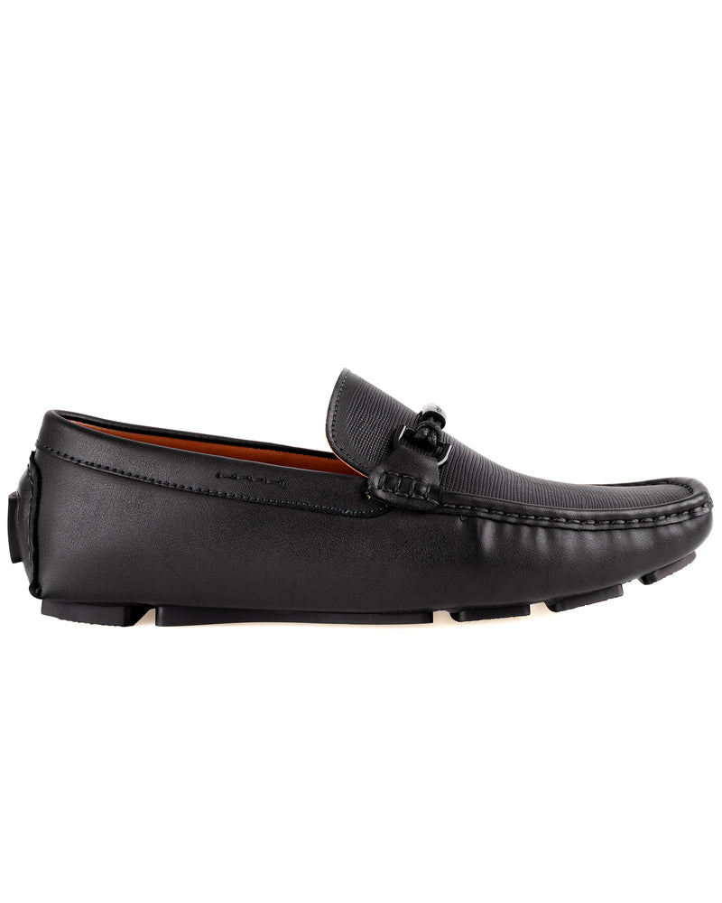 Load image into Gallery viewer, Tomaz C443 Buckle Moccasins (Black) men's shoes casual, men's dress shoes, discount men's shoes, shoe stores, mens shoes casual, men's casual loafers men's loafers sale, men's dress loafers, shoe store near me.