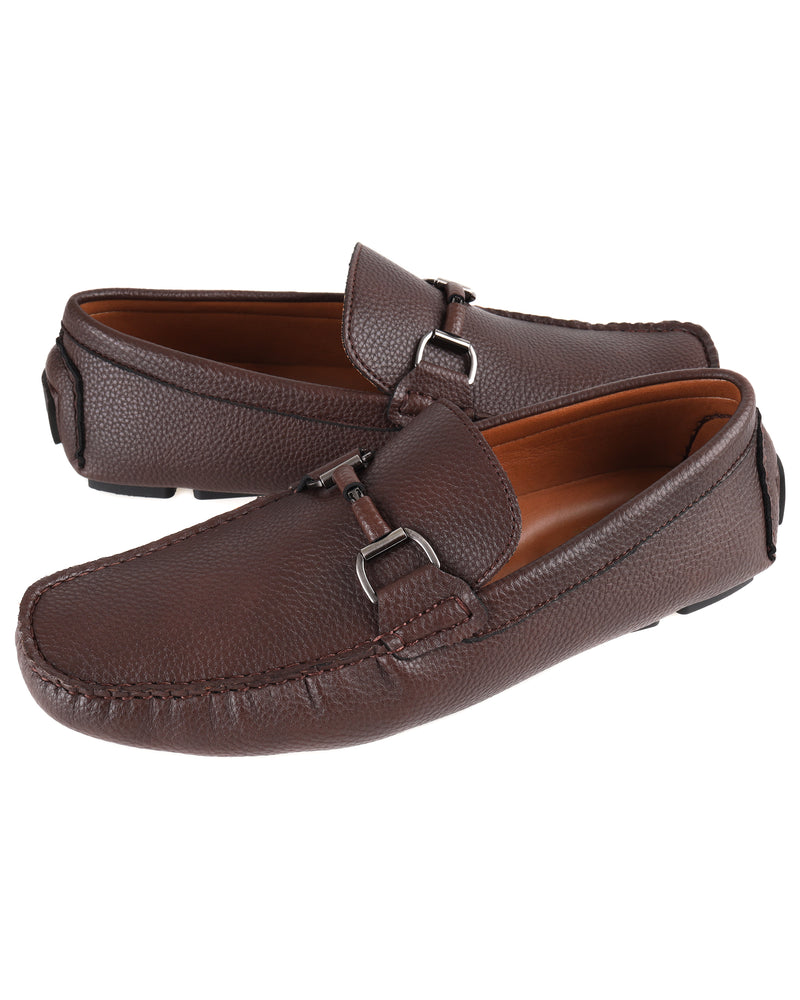 Load image into Gallery viewer, Tomaz C446 Buckle Moccasins (Coffee) men's shoes casual, men's dress shoes, discount men's shoes, shoe stores, mens shoes casual, men's casual loafers men's loafers sale, men's dress loafers, shoe store near me.