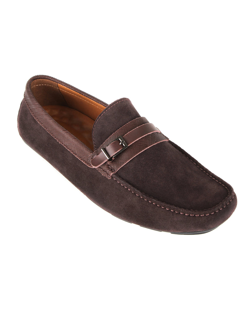 Load image into Gallery viewer, Tomaz C448 Buckle Suede Moccasins (Coffee) men's shoes casual, men's dress shoes, discount men's shoes, shoe stores, mens shoes casual, men's casual loafers men's loafers sale, men's dress loafers, shoe store near me.
