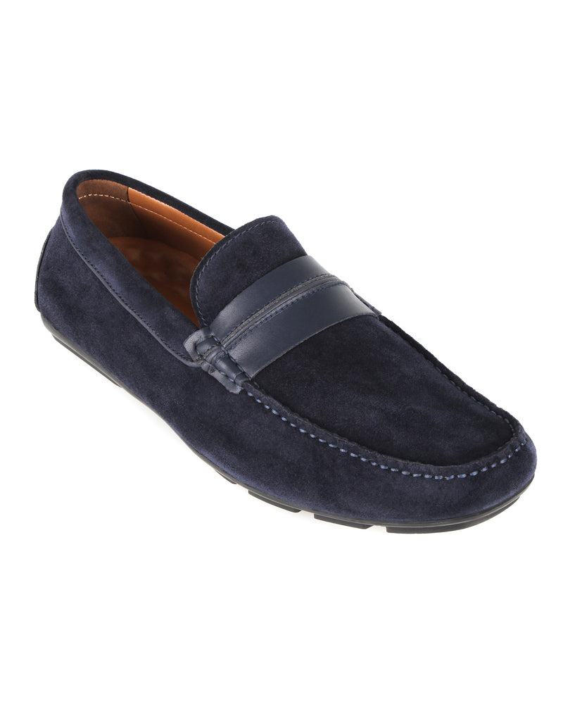 Load image into Gallery viewer, Tomaz C449 Penny Moccasins (Navy) men's shoes casual, men's dress shoes, discount men's shoes, shoe stores, mens shoes casual, men's casual loafers men's loafers sale, men's dress loafers, shoe store near me.
