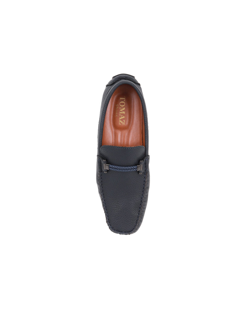 Load image into Gallery viewer, Tomaz C463 Double Braided Buckle (Navy) men's shoes casual, men's dress shoes, discount men's shoes, shoe stores, mens shoes casual, men's casual loafers men's loafers sale, men's dress loafers, shoe store near me.