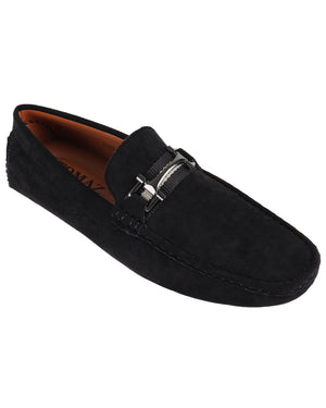 Load image into Gallery viewer, Tomaz C469 Metal Buckle Moccasins (Black) men's shoes casual, men's dress shoes, discount men's shoes, shoe stores, mens shoes casual, men's casual loafers men's loafers sale, men's dress loafers, shoe store near me.