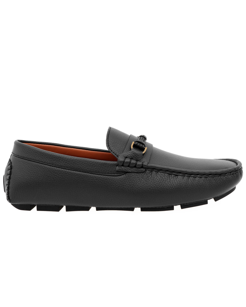 Tomaz C475 Buckle Leather Strap Moccasins (Black)