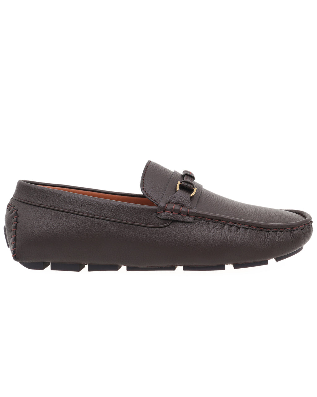 Tomaz C475 Buckle Leather Strap Moccasins (Coffee)