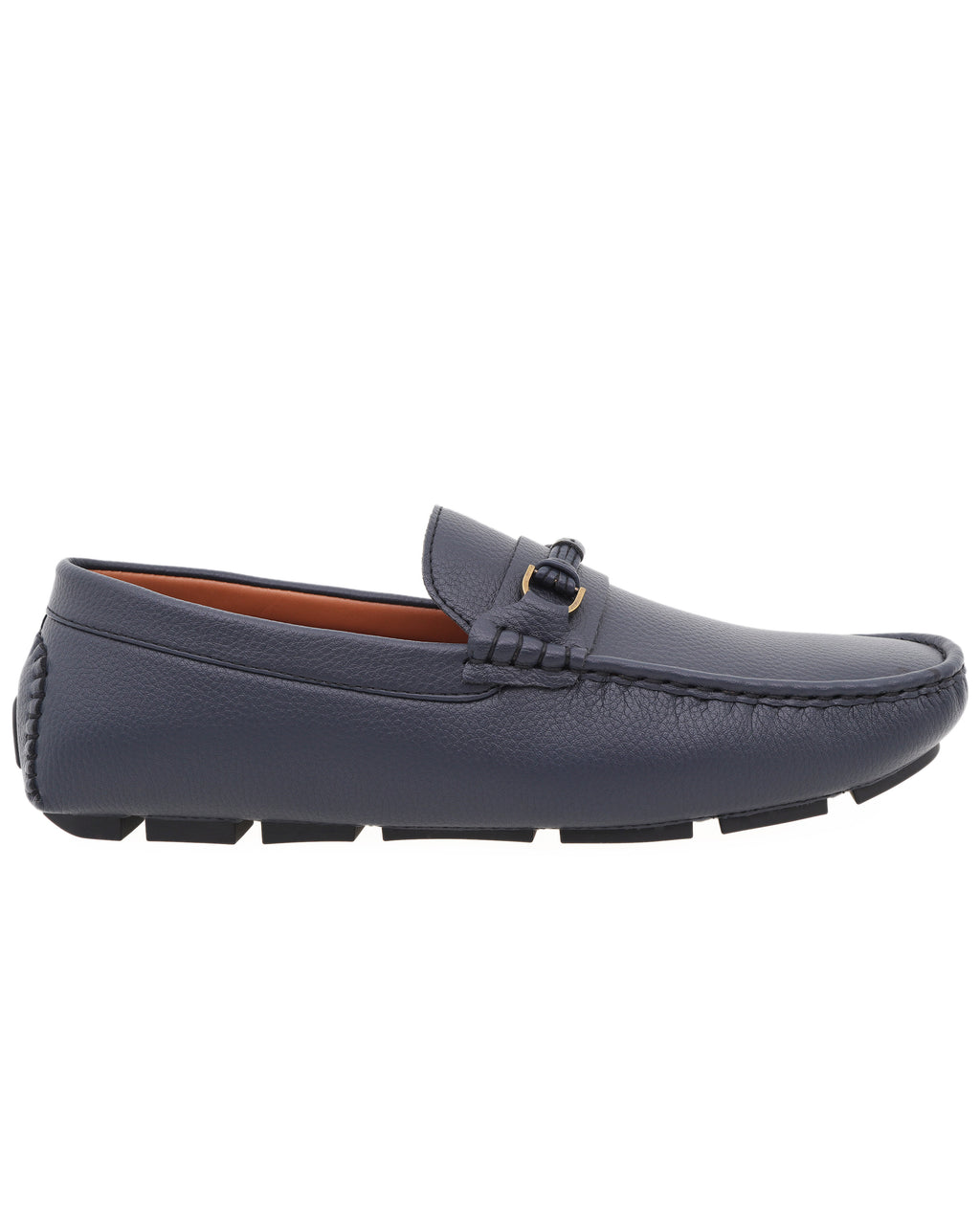 Tomaz C475 Buckle Leather Strap Moccasins (Navy)