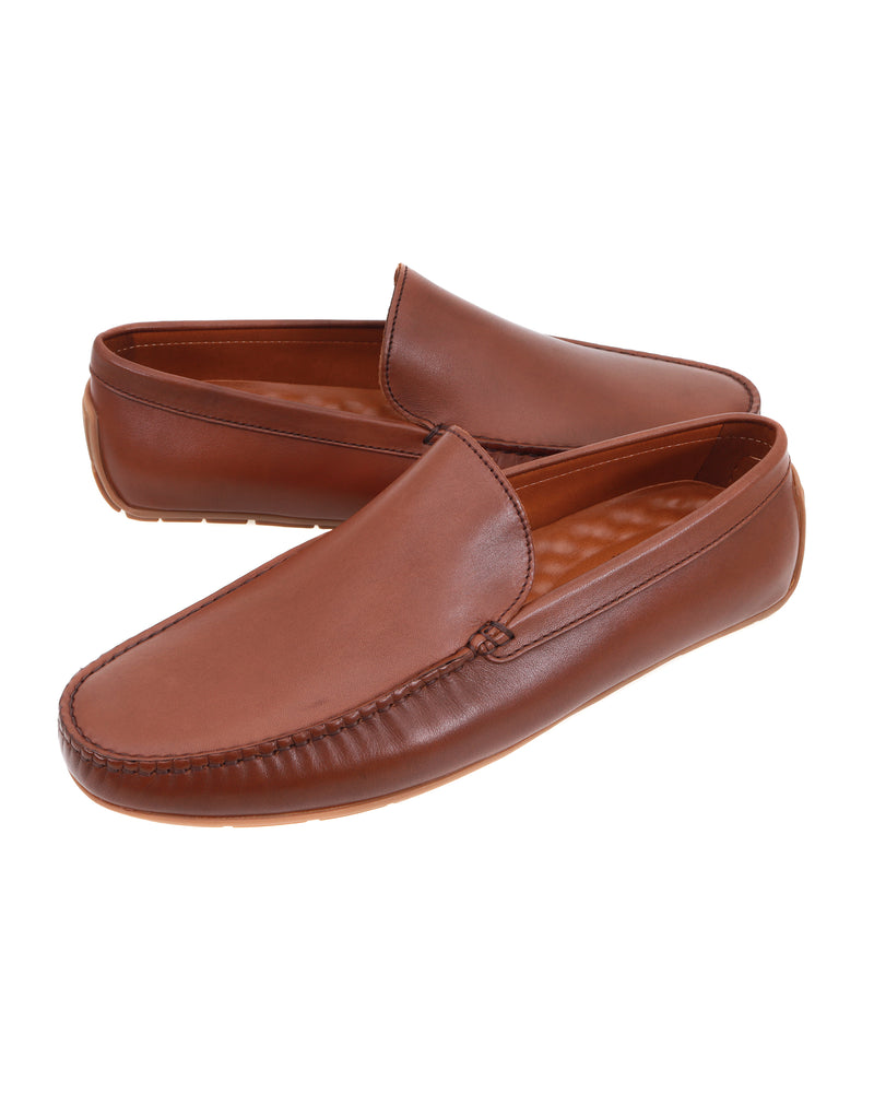 Tomaz C477 Leather Moccasins (Coffee