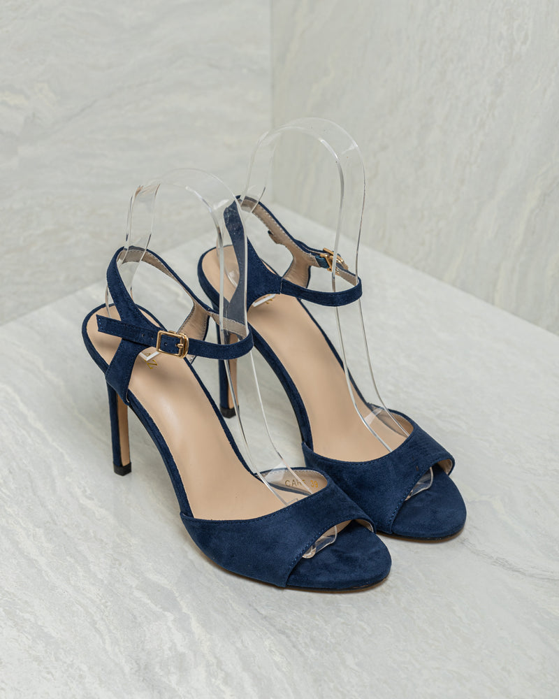 Tomaz CAH5 Ladies Open Toe Heels (Navy)