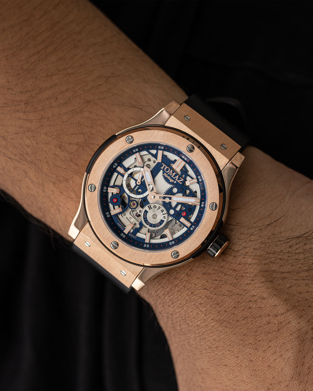 Tomaz Men's Watch TW014-D3 (Rose Gold/Navy)