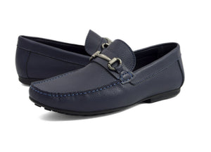 Tomaz C247 Buckle Loafers (Navy) - Tomaz Shoes