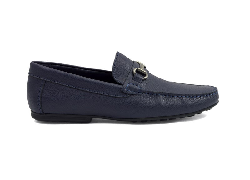Tomaz C247 Buckle Loafers (Navy) - Tomaz Shoes (388300767261)